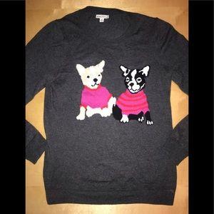 J.Crew Mercantile Gray French Bull Dog Sweater M